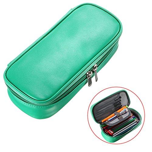 BTSKY High Capacity PU Leather Pencil Case - Multifunctional