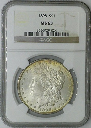 1898 P Morgan $1 MS63 NGC Silver Dollar Old US Coin 90% Silver
