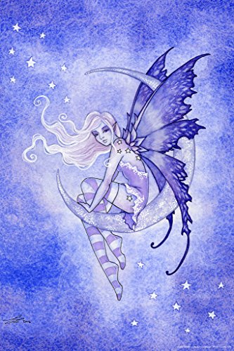 (Moon FAE by Amy Brown Art Print Poster 12x18 inch)
