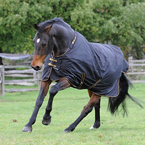 Bucas Irish Turnout Light 50g Classic 1200D - Pony - black/gold