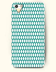 iPhone 5/5S Case, OOFIT Phone Cover Series for Apple iPhone 5 5S Case (DOESN'T FIT iPhone 5C)-- Teal Hexagon Pattern -- Honeycomb Pattern