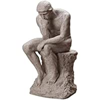 Statua Nordic Sandstone Thinker Creative Sculpture Home Study Soggiorno Simple Modern Decoration Artwork 11 * 14 * 26cm