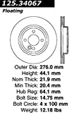 Centric 125.34067 Front Brake Rotor