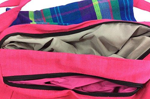 Rainbow Handlooms RHFBNB03 _a mano in tessuto di cotone per neonati, con Borsa Nursery, colore: arcobaleno