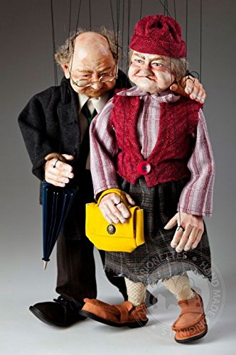 Old Couple Czech Marionettes Puppets for sale  Delivered anywhere in USA