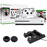 Microsoft Xbox One S 1TB with NBA 2K19 and Deco Gear Xbox 3-in-1 Vertical Stand Cooling Fan with Dual Controller Charging Station Bundle