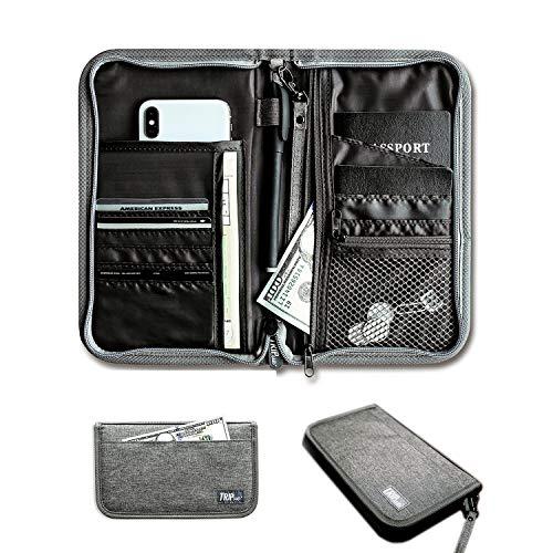 Tripue - Travel Wallet, Passport Holder, Documents Organizer, RFID Blocking Family Travel Solution.