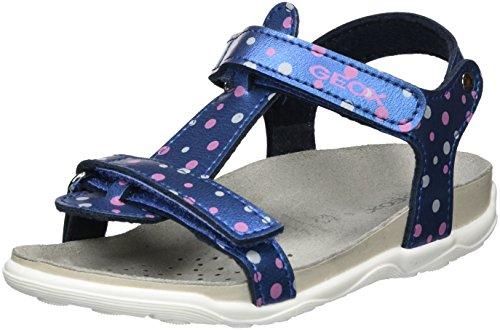Azul Sandal denimc4008 Cuña Sandalias Aloha Para Con Jr B Geox Niñas gwxAqzSc