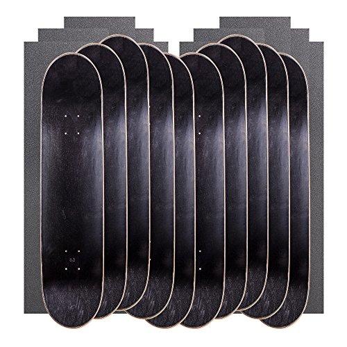 かんがいポーク寝るCal 7空白Mapleスケートボードデッキwithグリップテープ(Bundle of 10 )
