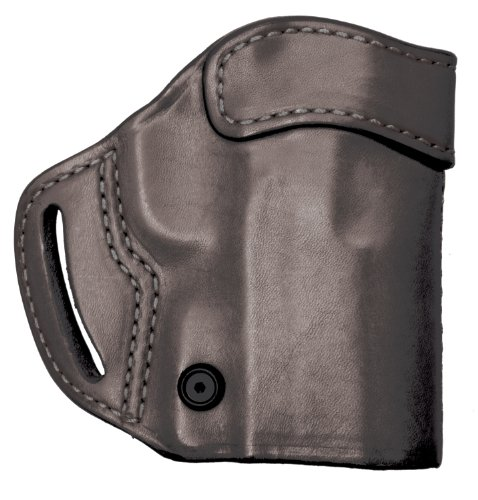 (BLACKHAWK! Leather Compact Askins Black Holster, Size 04, Right Hand, (HK P2000/USP Cmpt RHnd Blk))