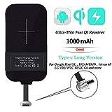 Wireless Charging Receiver,Nillkin Magic Tags Wireless Charger Receiver Chip 5W Qi Wireless Charging Standard (Type C - Long Version)