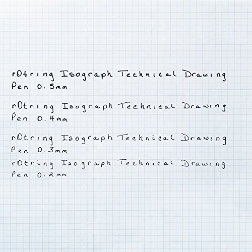 rOtring S0226890 Isograph Technical Drawing Pens, Set, 4-Pen Set (.20-.50 mm) by Rotring (Image #4)