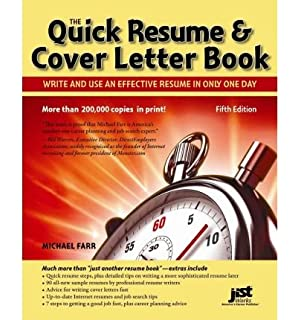 by michael farr jist editors quick resume cover letter book write and - Effective Resume