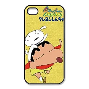 Personalized Durable Cases iPhone 4,4S Cell Phone Case Black Crayon Shin chan Nefdr Protection Cover