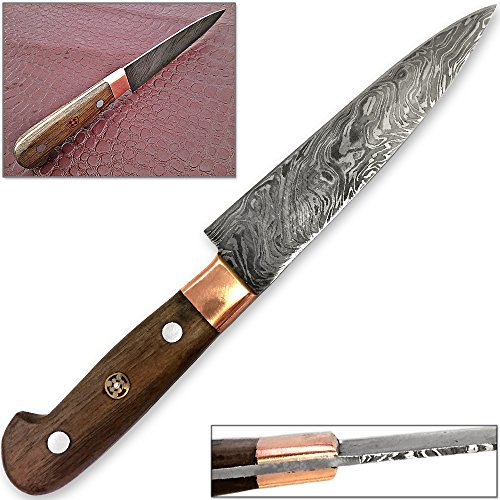 Forged Paring Knife Pro Chef Cutlery Damascus Steel 1095 HC by White Deer
