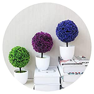 Potted Blossom Bonsai Festival Cherry Fake Greeting Trigeminal Ball Pine 26Types Wedding Artificial Flowers 18