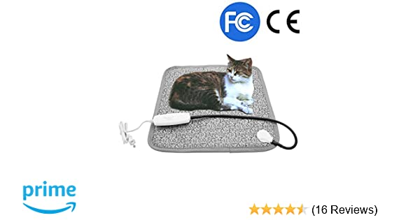 Amazon.com : Pet Heating Pad, Dog Cat Electric Heated Blanket Mat, Temperature Warming Cushion Bed with Anti Bite Tube : Pet Supplies