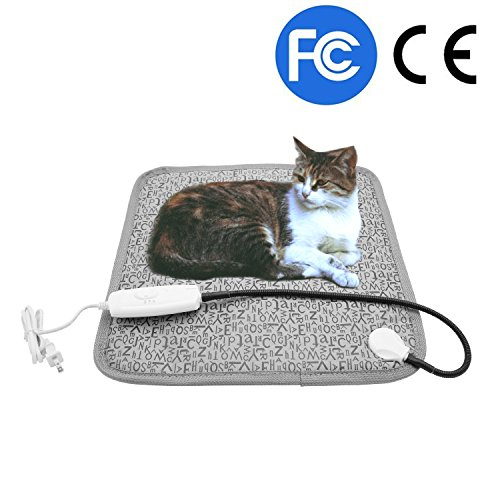 Pet Heating Pad, Dog Cat Electric Heated Blanket Mat, Temperature Warming Cushion Bed with Anti Bite Tube ()