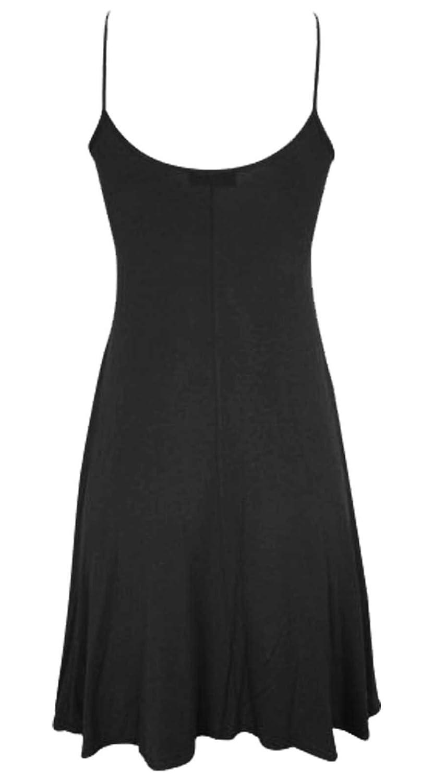 e8e776b7c3a Baliza-vestido sin mangas para mujer de boca ancha con tirantes - negro