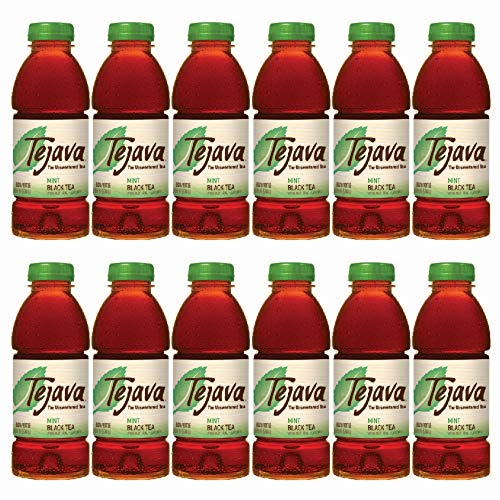 Tejava Unsweetened Black Iced Tea with 16.9oz PET Bottles, Award Winning, Non-GMO-Verified, from Rainforest Alliance Certified farms (12 Pack)