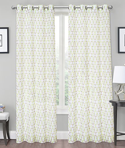 Sheer Trellis Curtains (Pick Your Color)