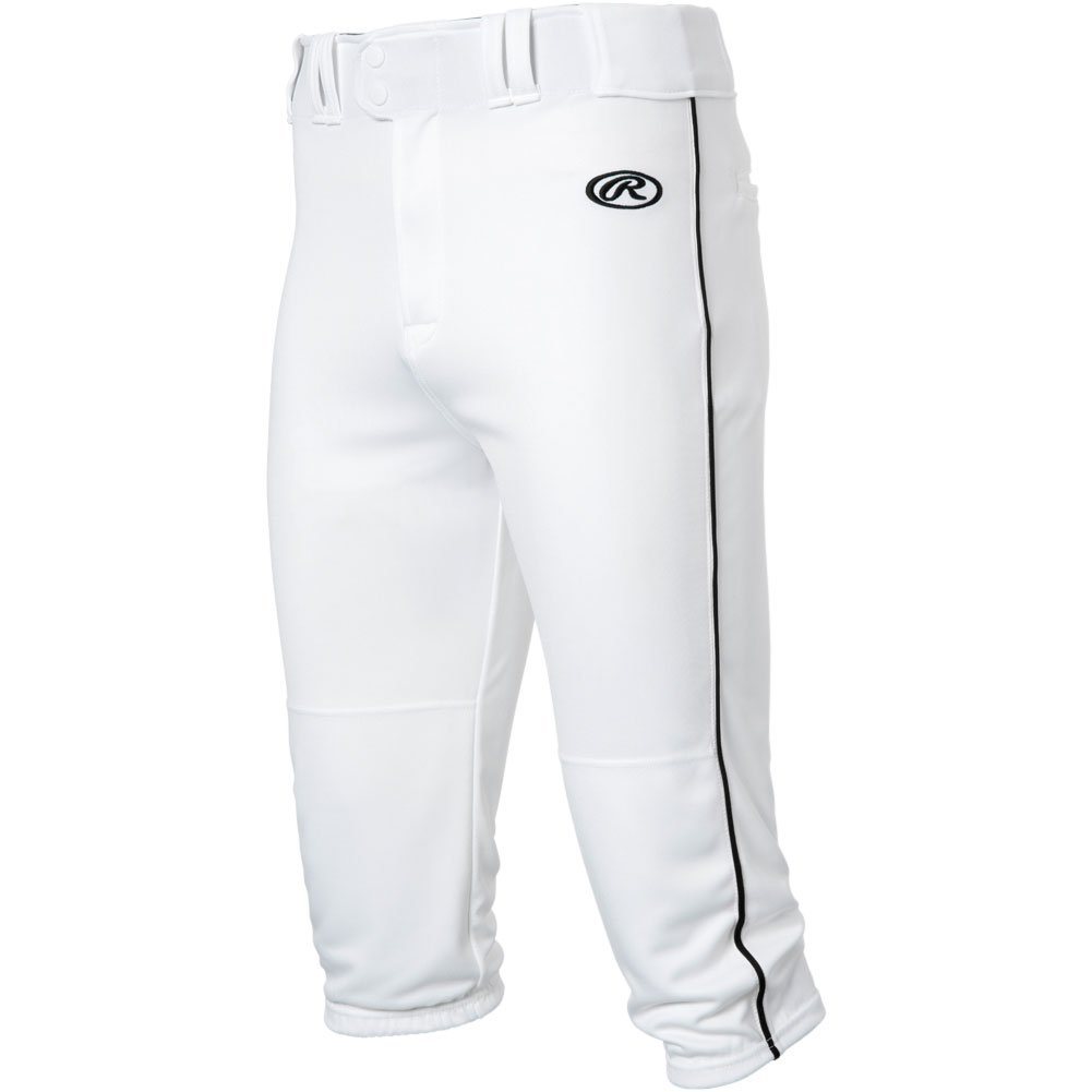 RawlingsメンズLaunch Piped Knickerパンツ B0777S1CFC Large|White|Black White|Black Large