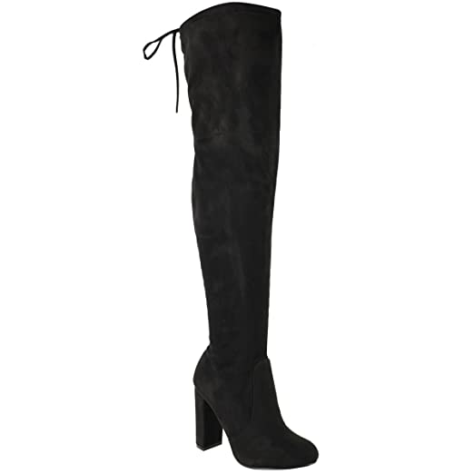 40c7b604fb5ee Fashion Thirsty Women's Thigh Boots Stretch Block