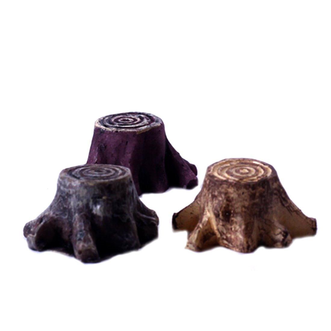 Luwu-Store 1 PCS Miniature Mini Tree Stump Flower Pot DIY Resin Fairy Garden Craft Decoration