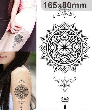 Cuerpo de klebbare temporales tatuaje Tattoo Pegatinas Flores ...