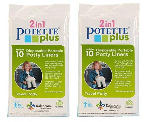 (Kalencom Potette Plus Liners, 20 count)