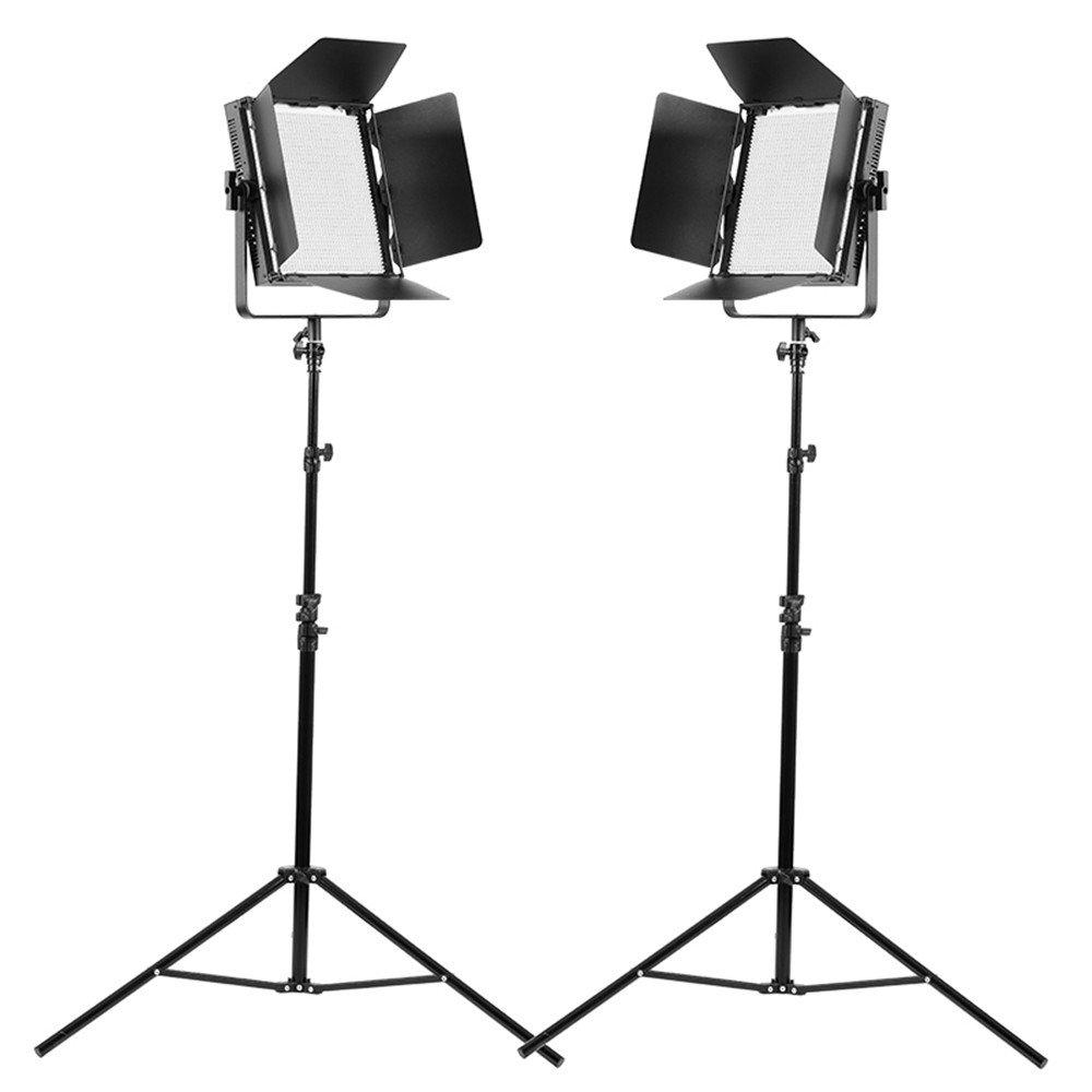 Tolifo GK-J-1520BA 2個セット ライトキット Bi-Color  スタンド付き Ledビデオライトパネル CRI95 + 3200K~5600K 45W スタジオ照明 アダプター付き   B071ZVPBZF