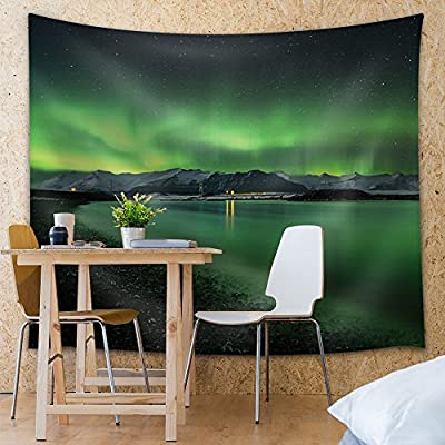Classic Design, Unbelievable Composition, View of The Mountains and The Green Northern Lights
