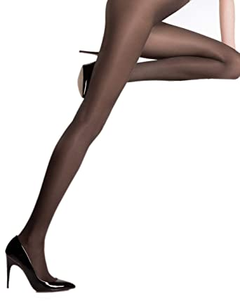 24c8d0df4 Pierre Mantoux Eclatant 40 Tights-Nero-Small I  Amazon.co.uk  Clothing