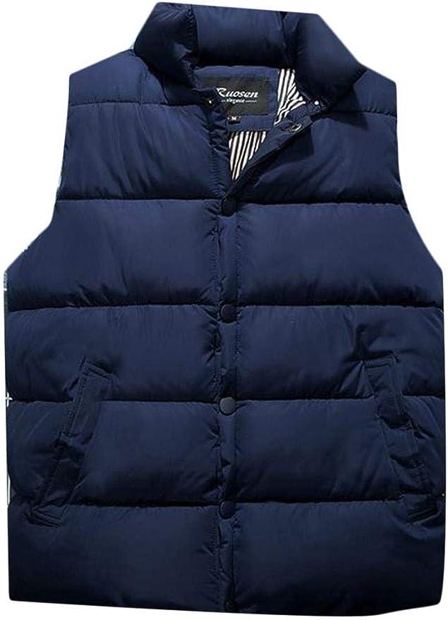 XiaoTianXinMen XTX Mens Fashion Puffer Cotton-Padded Zip Stand Collar Parka Jacket Coat