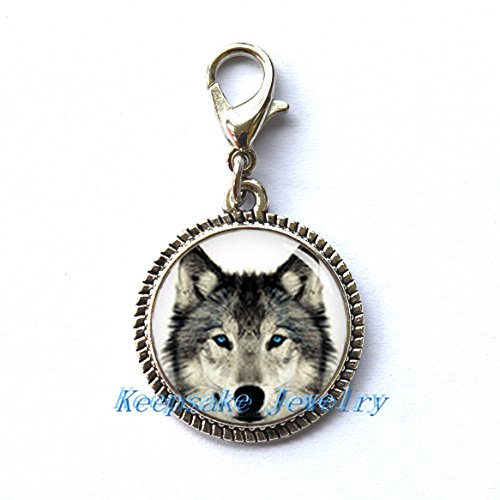 College Ideas For Halloween (Wolf Zipper Pull,Perfect for Necklaces, Bracelets , keychain and earrings Charm Wolf handmade Jewelry,wolf jewelry)