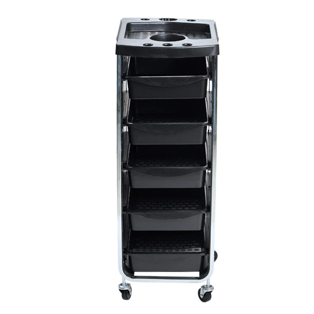 Beauty Storage Trolley Hairdresser Maintenance Carts Barber Shop Multi-Function Drawers Trolleys Hair Salon Perm Hair Dyeing Styling with Wheel Tool Car Black by Beauty Storage Trolley (Image #4)