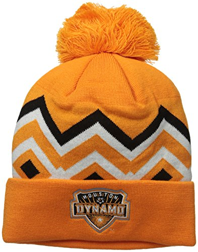 MLS Houston Dynamo Men's Cuffed Knit with Pom, One Size, Orange