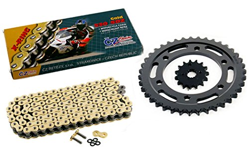CZ SDZ Gold X Ring 120L Chain and Sprocket Kit 17/47 2009-2014 Yamaha YZF-R1 LE ()