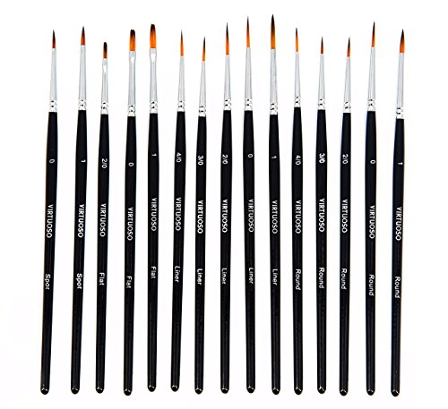 Virtuoso 15 Piece Paintbrushes Handmade Detail product image