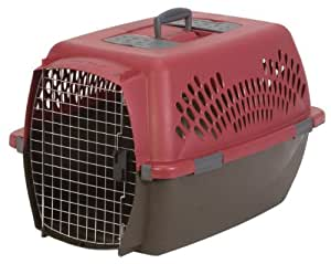 Petmate Pet Taxi Fashion Kennel (Large/Red/Coffee). Carrier, Crate, Transporting, Travel