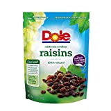 Dole California Seedless Raisins, 12 Ounce Bag, Naturally Fat-Free Sodium-Free, No Preservatives, Great in Salads Toppings Baking Trail Mix and Snacks For Sale