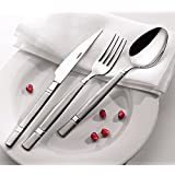 Silverware set by OLINDA 18/10 Stainless Steel Flatware set Tableware Set Spoon and Fork set Restaurant Quality at Great Value 20 piece set Service for 4, Fiesta (MOONLIGHT)