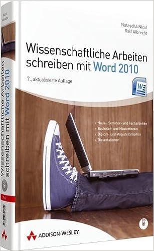 Wissenschaftliche Arbeiten Schreiben Mit Word 2010 Für Haus