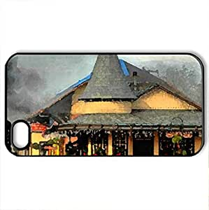 Ivyland-Railroad-Station - Case Cover for iPhone 4 and 4s (Watercolor style, Black)