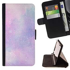 BullDog Case - FOR/Apple Iphone 6 PLUS 5.5 / - / stars universe clouds purple pink cosmos /- Monedero de cuero de la PU Llevar cubierta de la caja con el ID Credit Card Slots Flip funda de cuer