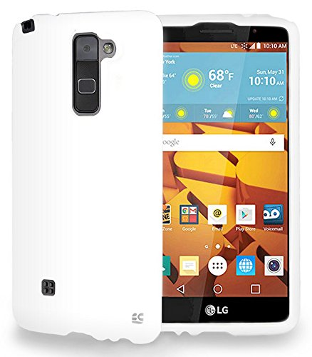 competitive price 1dd49 63183 Amazon.com: LG STYLO 2 COVER, WHITE RUBBERIZED HARD SHELL PROTECTOR ...