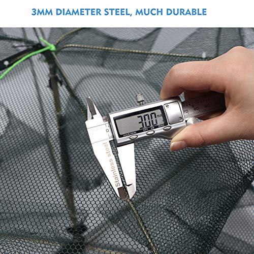 FunVZU Folded Fish Trap - 2020 New Improved Portable Minnow Trap Bait Traps Cast Dip Cage Automatic for Fish Shrimp Minnow Crawfish Crab Baits Fishing Net Freshwater