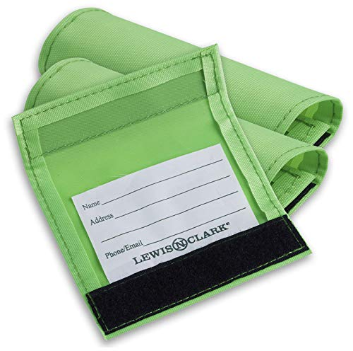 Lewis N. Clark 3-Pack Luggage ID Handle Wrap, Green, One Size