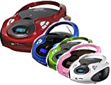 Tragbarer CD MP3 Player USB SD-Card Radio Tragbares Kinder CD-Radio Boombox (Weiß)