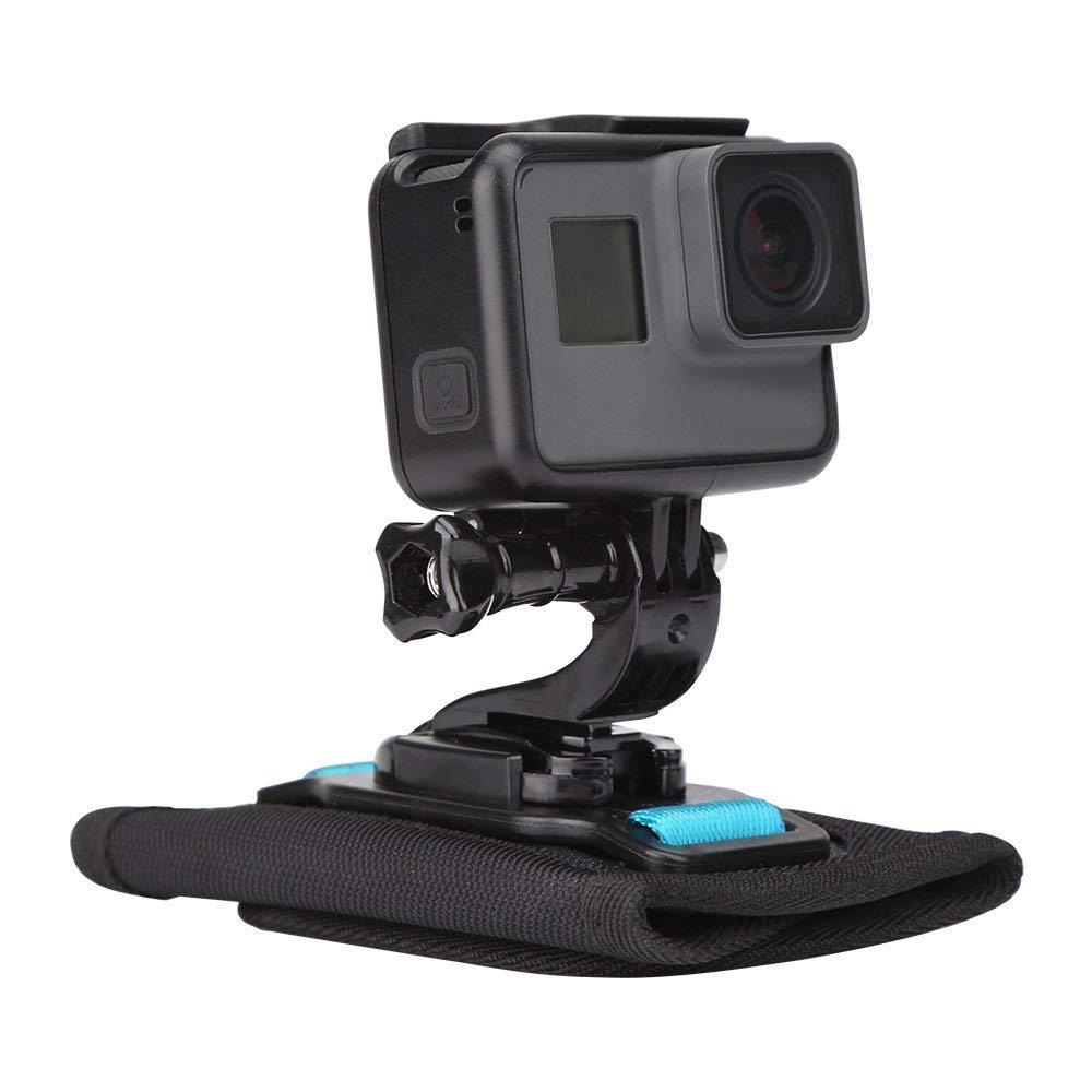 SJCAM Crosstour Akaso Polaroid TELESIN Sangle de Casque Int/égral Moto Menton Monture Victure Accessoires J-crochet pour GoPro Hero 2018//7//6//5//4//3//Session Apeman EKEN Campark Xiaomi YI 4K